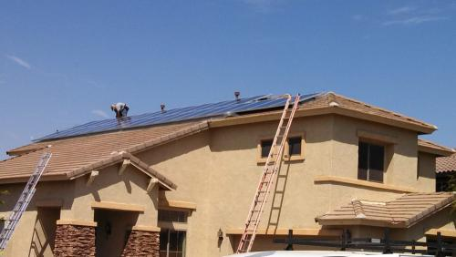 Installing solar panels screening
